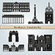 Bordeaux Landmarks and Monuments - GraphicRiver Item for Sale