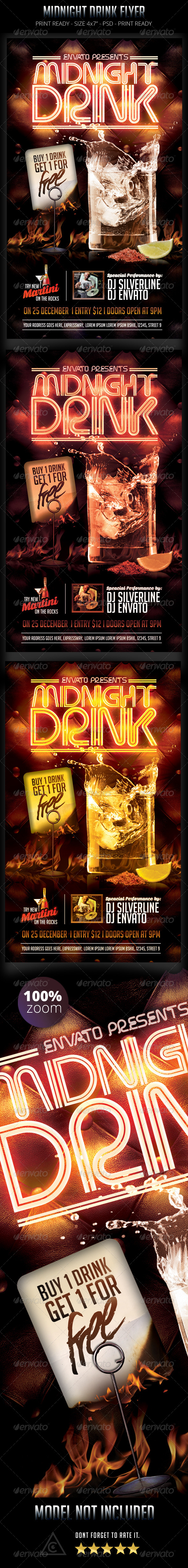 GraphicRiver Midnight Drink Flyer 8783175