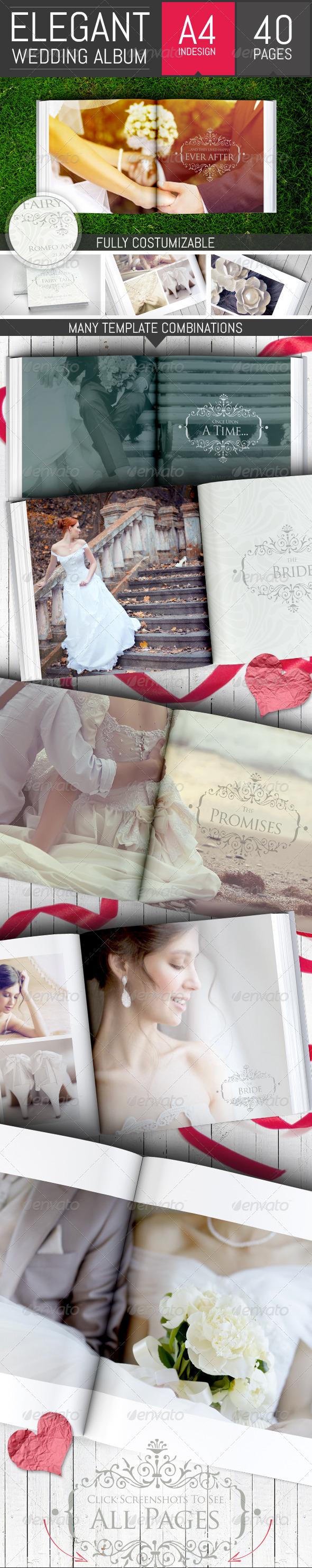 GraphicRiver Elegant Square Wedding Photo Album Template 8783186