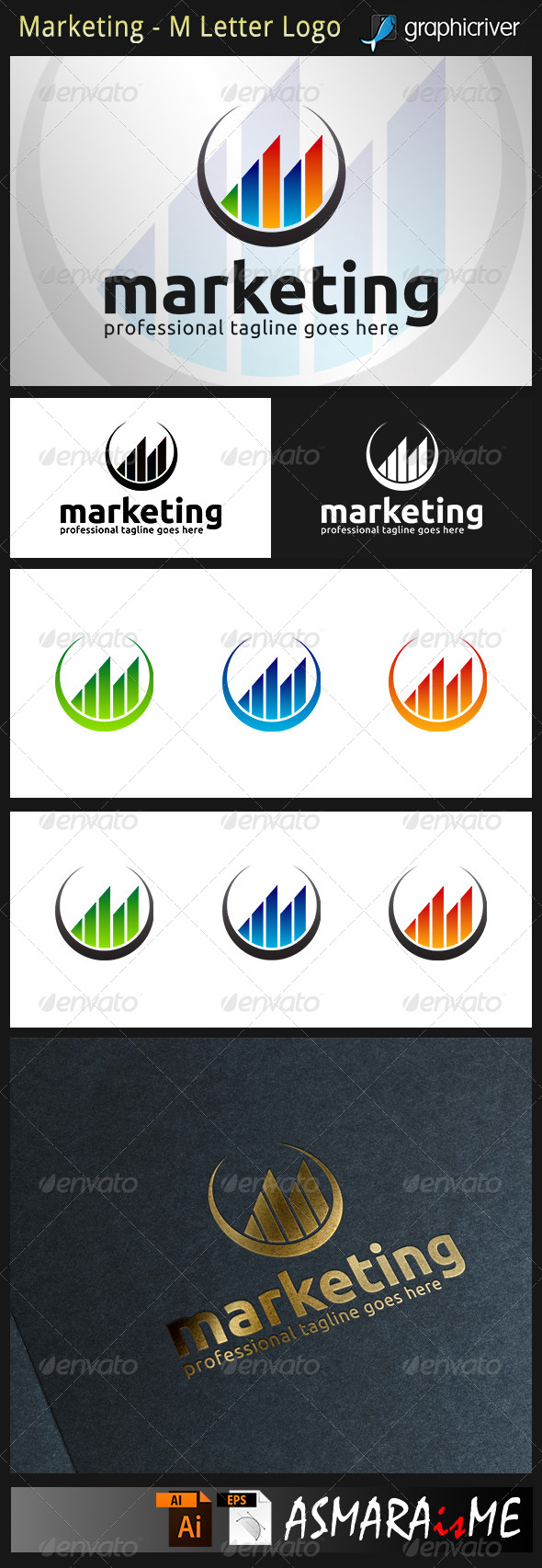 GraphicRiver Marketing M Letter Logo 8783381