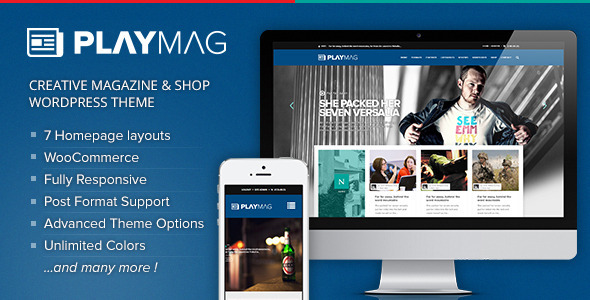 ThemeForest PlayMag Creative Magazine & Shop WordPress Theme 8783513