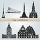 Riga Landmarks and Monuments - GraphicRiver Item for Sale