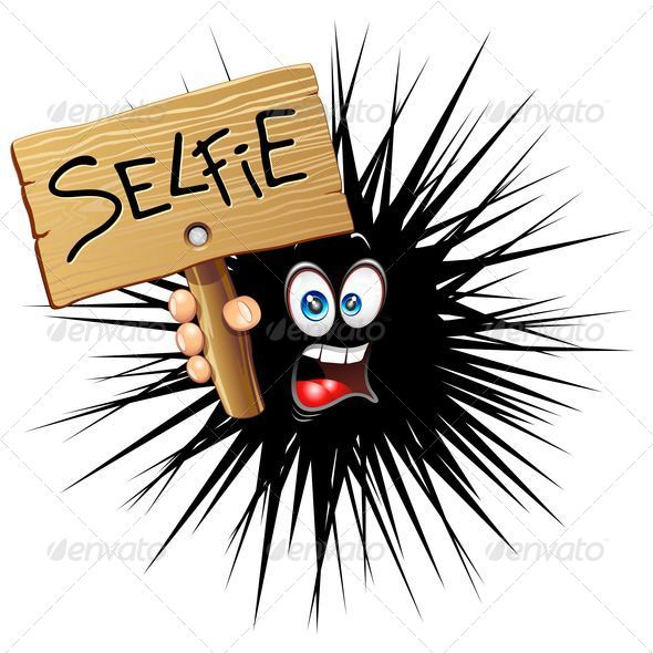GraphicRiver Selfie Cartoon Face 8783554