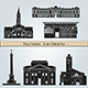 Toulouse Landmarks and Monuments - GraphicRiver Item for Sale