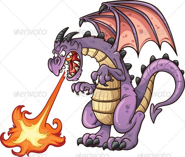 GraphicRiver Cartoon Dragon 8784023