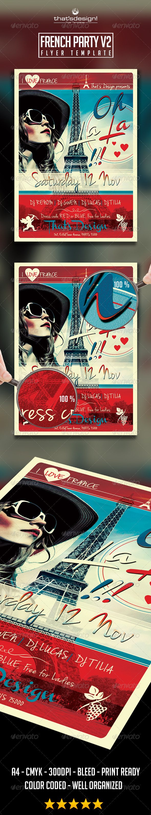 GraphicRiver French Party Flyer Template V2 8784119