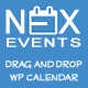 NEX-Events - Drag & Drop WordPress Events Calendar - CodeCanyon Item for Sale