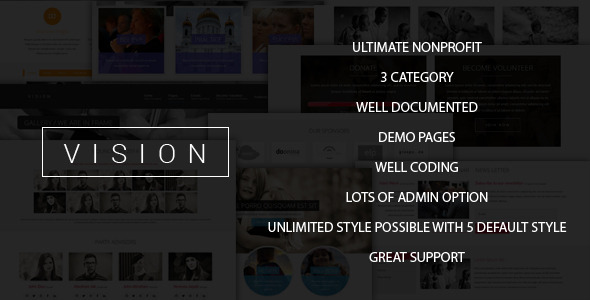 ThemeForest Vision Ultimate Nonprofit Joomla Theme 8724995