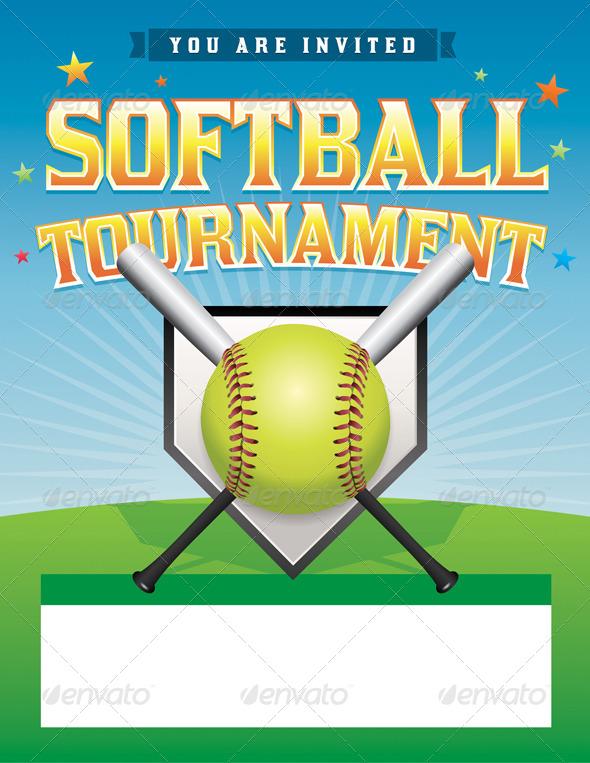 GraphicRiver Vector Softball Tournament Illustration 8754210