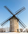 Traditional Windmill in Winter  - PhotoDune Item for Sale