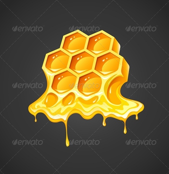 GraphicRiver Honey in Honeycombs 8784294