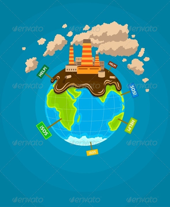 GraphicRiver Ecological Infographics Earth Planet 8784297
