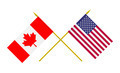 Flags of USA and Canada, 3d Render, Isolated on White - PhotoDune Item for Sale