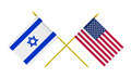 Flags of USA and Israel, 3d Render, Isolated on White - PhotoDune Item for Sale