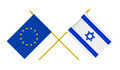 Flags of Israel and European Union, 3d Render, Isolated on White - PhotoDune Item for Sale