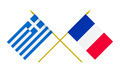 Flags of France and Greece, 3d Render, Isolated - PhotoDune Item for Sale