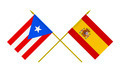 Flags of Puerto Rico and Spain, 3d Render, Isolated - PhotoDune Item for Sale