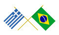 Flags of Brazil and Greece, 3d Render, Isolated - PhotoDune Item for Sale