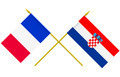 Flags of Croatia and France, 3d Render, Isolated - PhotoDune Item for Sale
