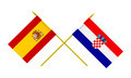 Flags of Croatia and Spain, 3d Render, Isolated - PhotoDune Item for Sale