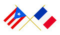 Flags of France and Puerto Rico, 3d Render, Isolated - PhotoDune Item for Sale