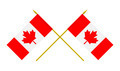 Two Crossed Flags of Canada, 3d Render, Isolated on White - PhotoDune Item for Sale