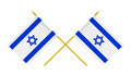 Two Crossed Flags of Israel, 3d Render, Isolated on White - PhotoDune Item for Sale