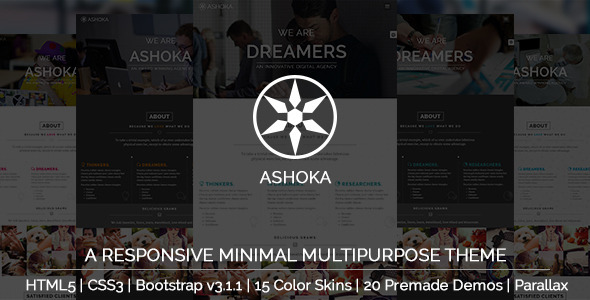 Ashoka - Responsive Minimal Multipurpose Theme - Corporate Site Templates