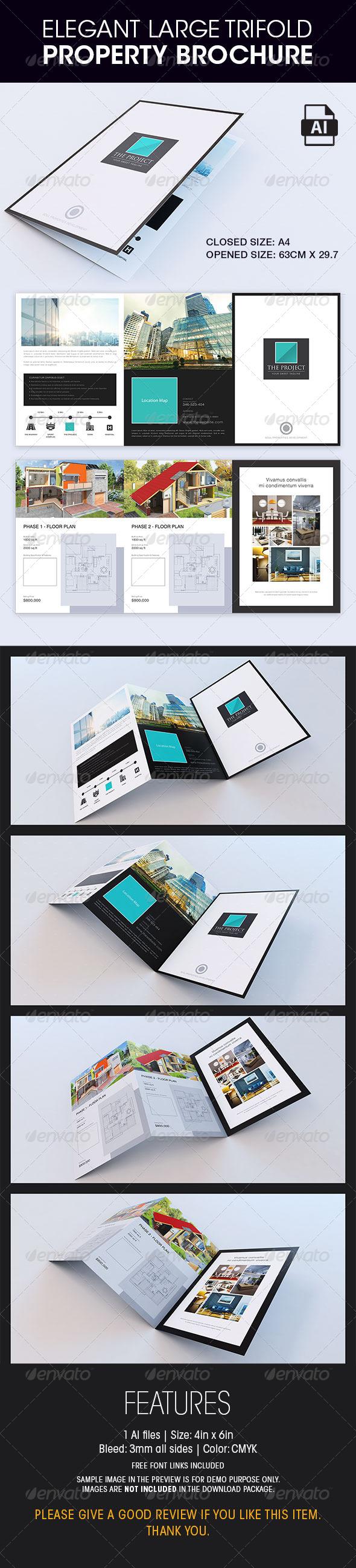 GraphicRiver Elegant Large Trifold Property Brochure 8782027