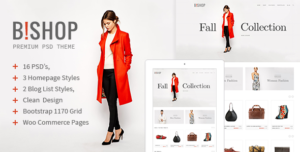 B!shop - E-Commerce and Blog PSD Theme