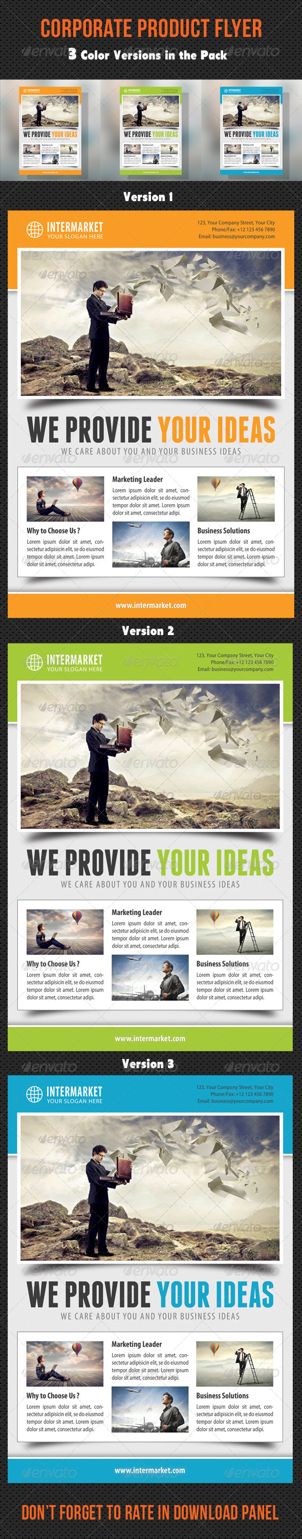 GraphicRiver Corporate Business Flyer 01 8785270