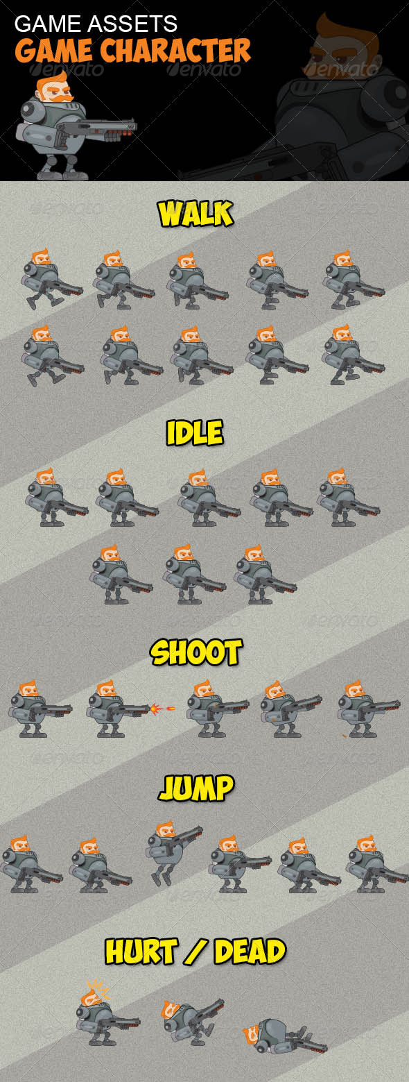 GraphicRiver Game Assets Game Character 8786613