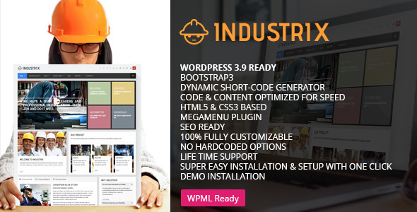 ThemeForest Industrix Multipurpose WordPress Theme 8786908