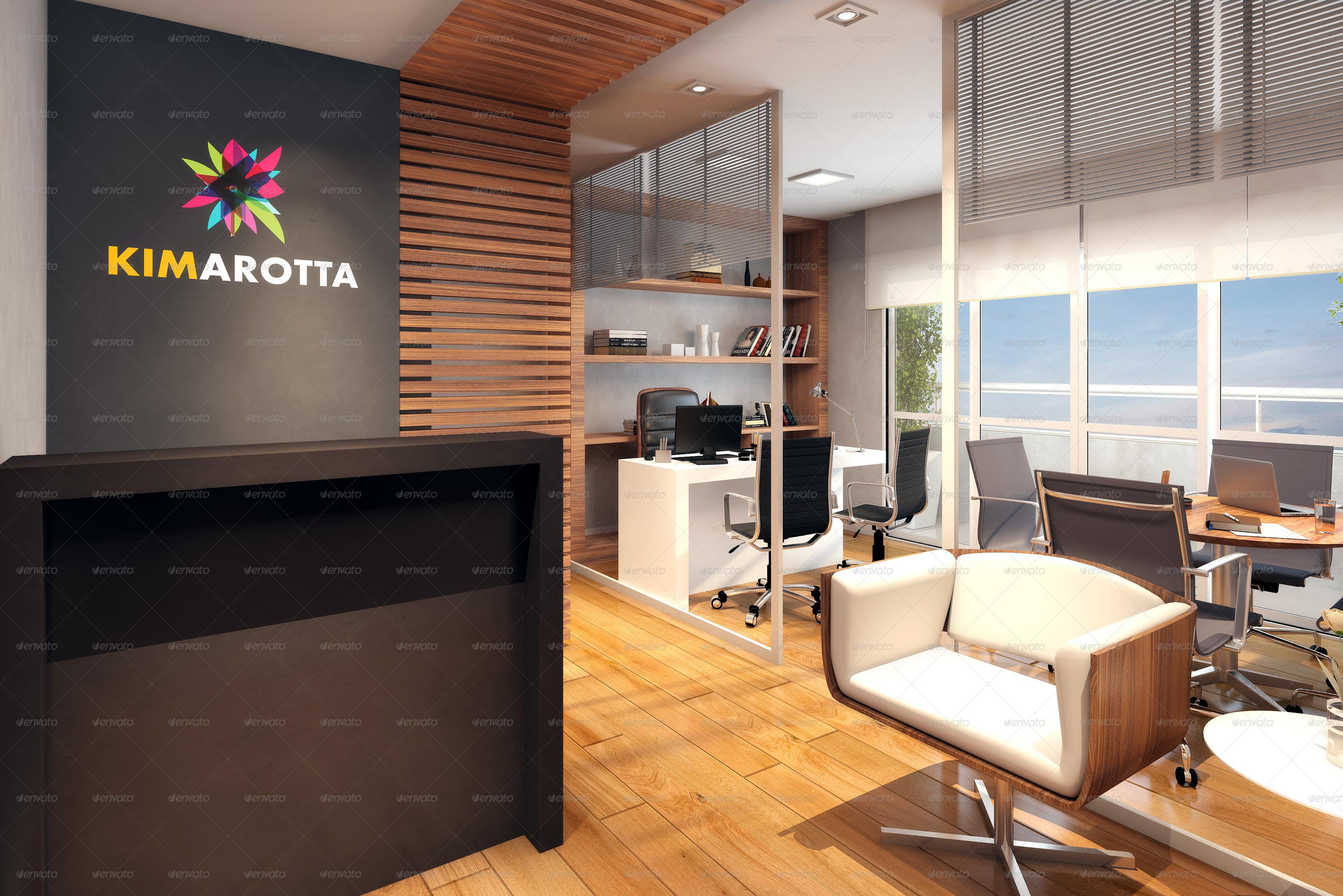 Proyectolandolina Office Interior Branding Mockups V2