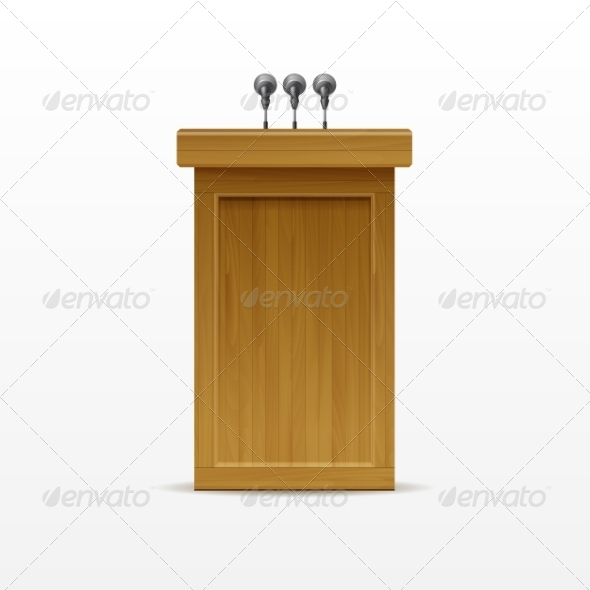 GraphicRiver Wood Podium 8787393