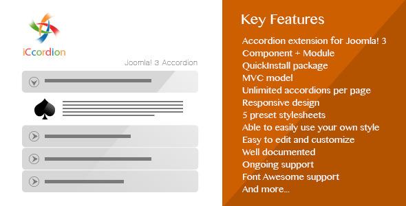 CodeCanyon iCcordion Responsive Accordion for Joomla 3 8787890