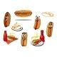Hotdog Cartoon Characters and Symbols - GraphicRiver Item for Sale