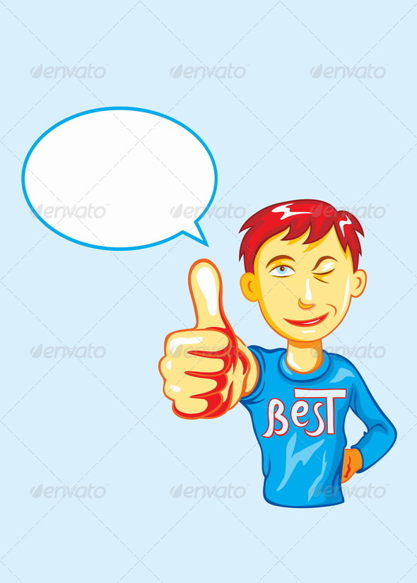 GraphicRiver Thumbs Up Boy 8787979