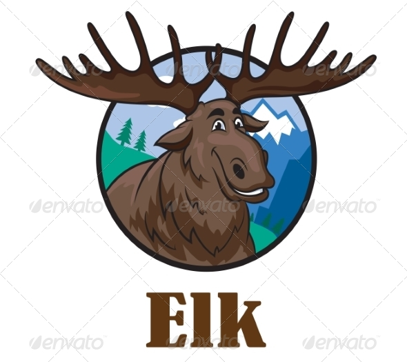 GraphicRiver Cartoon Moose or Elk 8787989