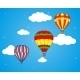 Air Balloons and Clouds Wallpaper - GraphicRiver Item for Sale
