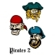 Cartoon Brutal Pirate Captains Set - GraphicRiver Item for Sale
