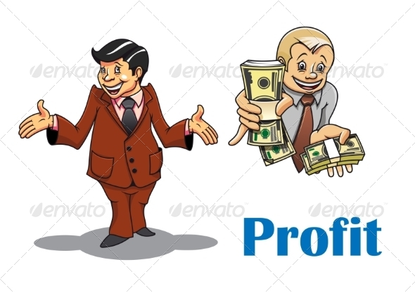 GraphicRiver Cartoon Businessman and Financial Expert Character 8788043