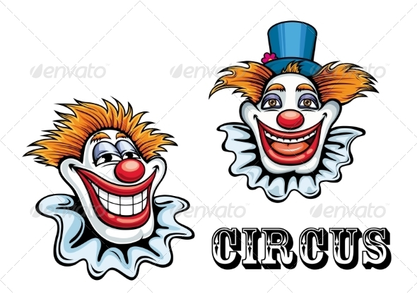 GraphicRiver Circus Cartoon Clown Characters 8788066