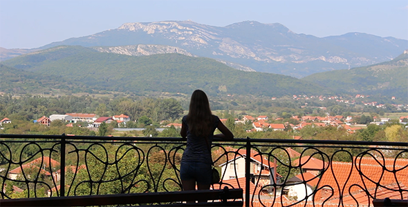 View from the Balcony and a Girl