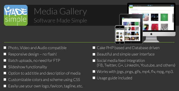 CodeCanyon MadeSimple Photo Video Gallery 8789416