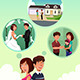 Young Couple Imagining Their Life Together - GraphicRiver Item for Sale
