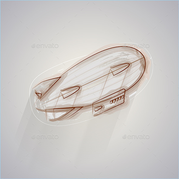 GraphicRiver Sketch Vector Illustration of Zeppelin 8789680