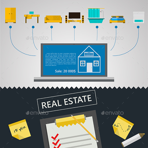 GraphicRiver Vector Infographic for Sale of Real Estate 8789782