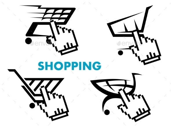 GraphicRiver Shopping Cart and Retail Business Icons Set 8789786