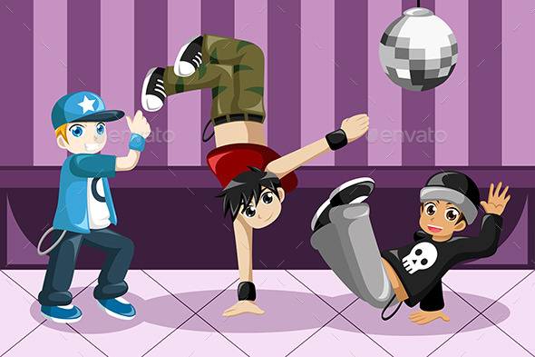 GraphicRiver Kids dancing Hip Hop 8789795